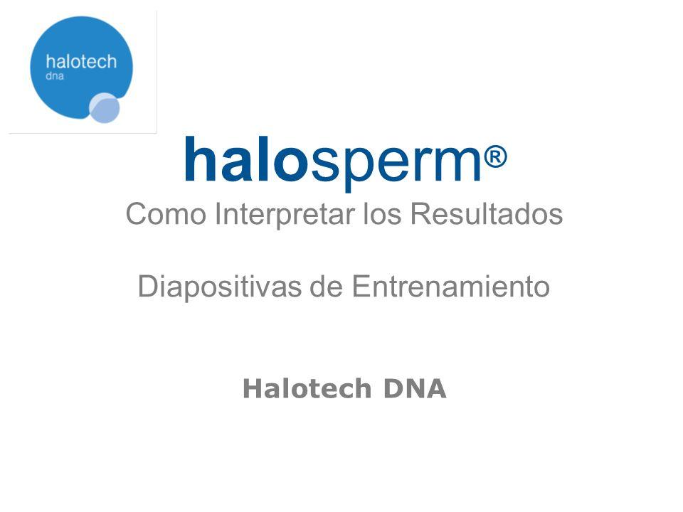 halosperm® Como Interpretar los Resultados Diapositivas de Entrenamiento