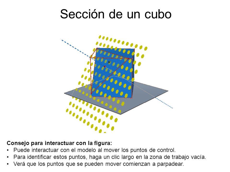 Sección de un cubo Consejo para interactuar con la figura: