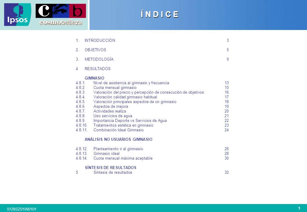 Í N D I C E INTRODUCCIÓN 3 OBJETIVOS 5 METODOLOGÍA 9 RESULTADOS