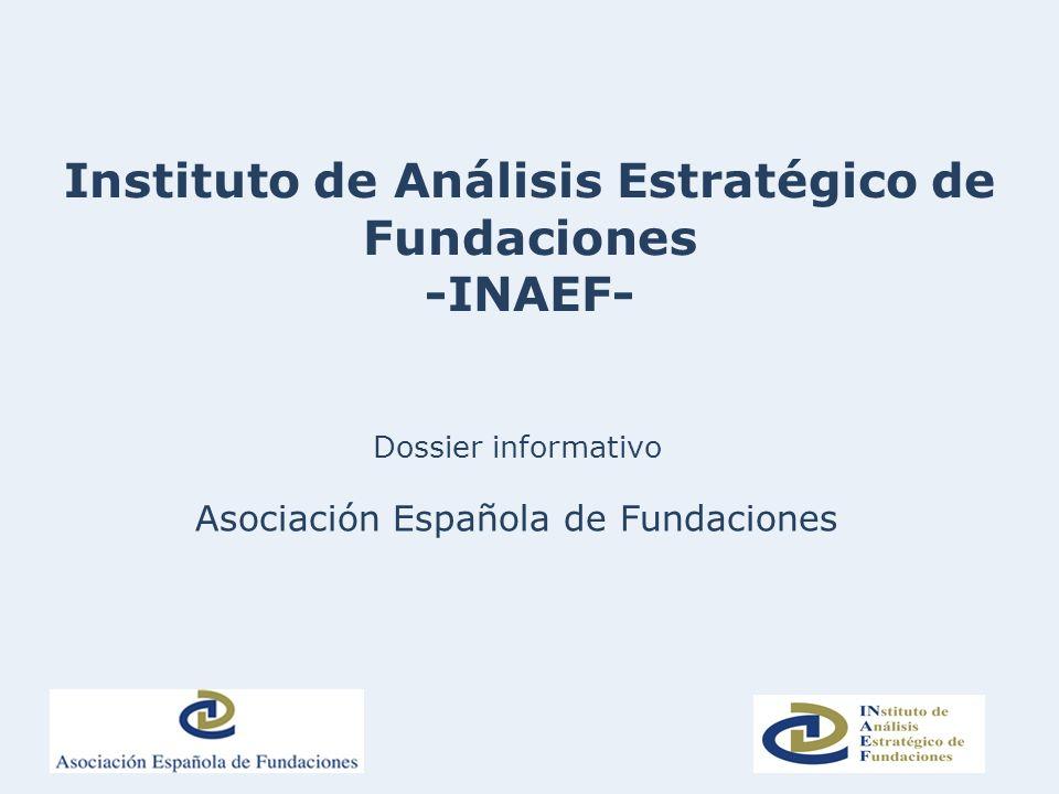 Instituto de Análisis Estratégico de Fundaciones -INAEF-