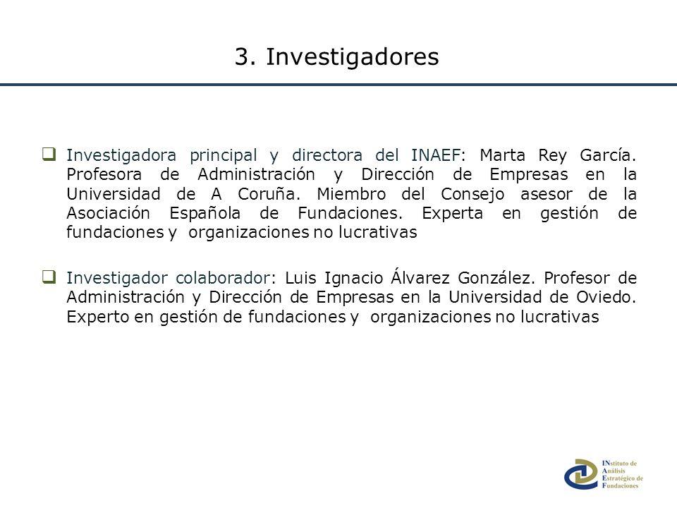 3. Investigadores