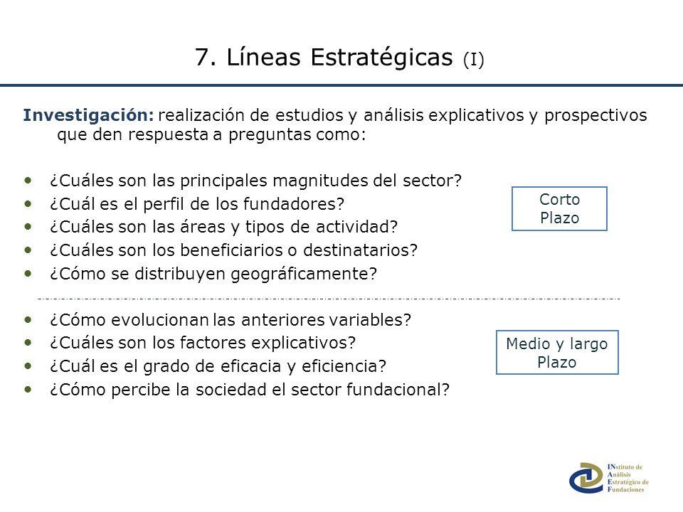 7. Líneas Estratégicas (I)