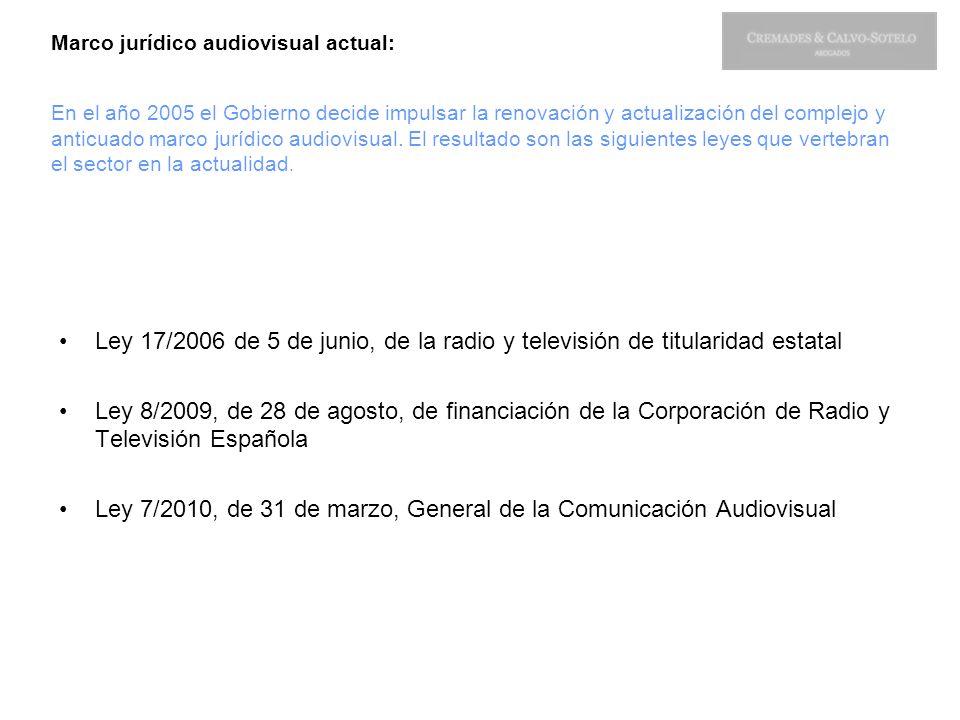 Ley 7/2010, de 31 de marzo, General de la Comunicación Audiovisual