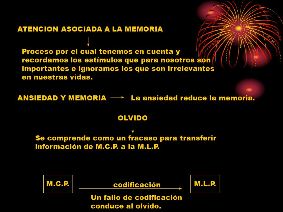 ATENCION ASOCIADA A LA MEMORIA