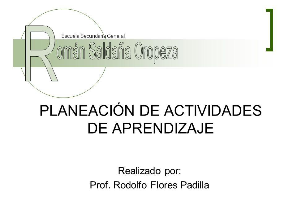PLANEACIÓN DE ACTIVIDADES DE APRENDIZAJE
