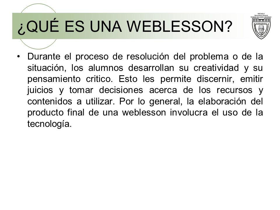 ¿QUÉ ES UNA WEBLESSON