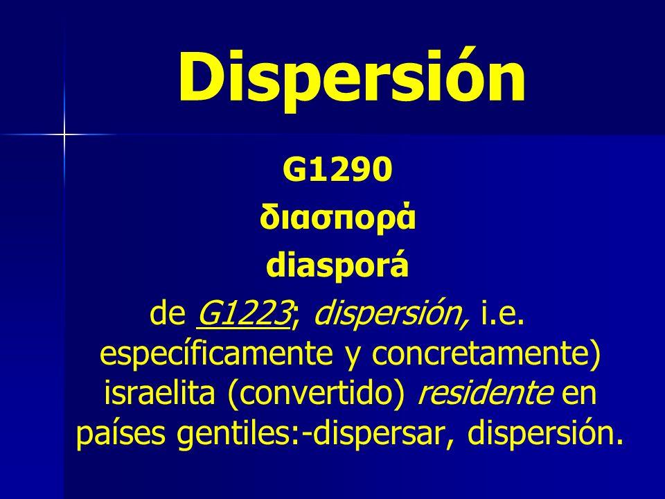 Dispersión G1290 διασπορά diasporá