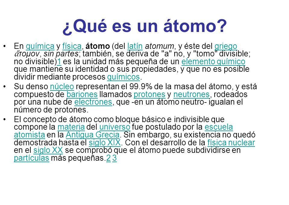 ¿Qué es un átomo