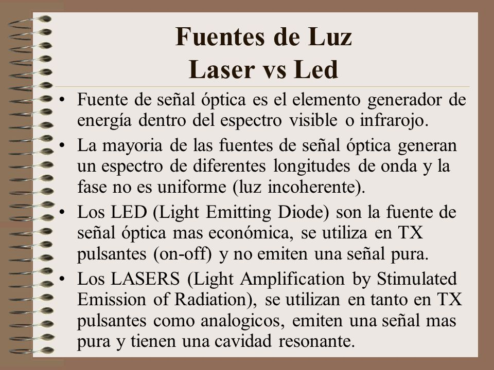 Fuentes de Luz Laser vs Led
