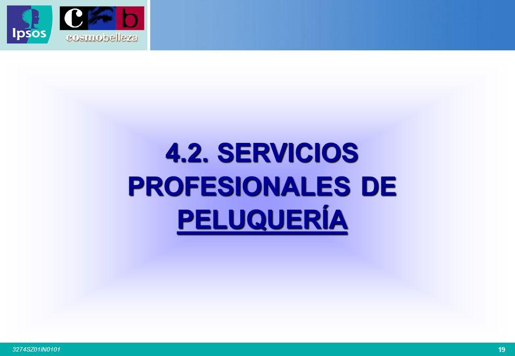 4.2. SERVICIOS PROFESIONALES DE PELUQUERÍA