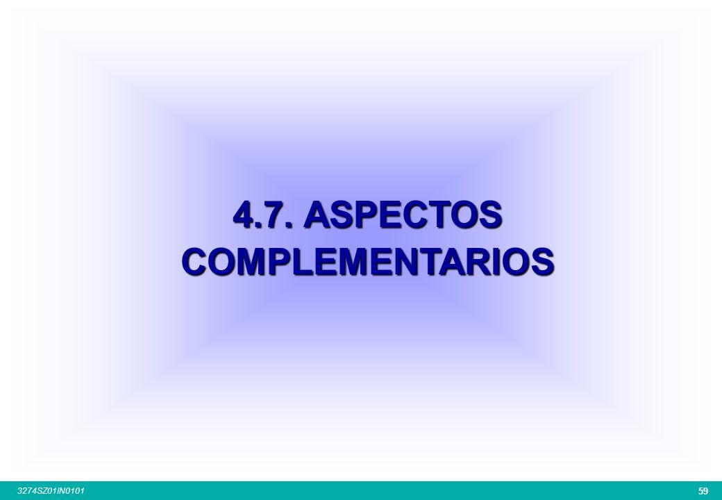 4.7. ASPECTOS COMPLEMENTARIOS