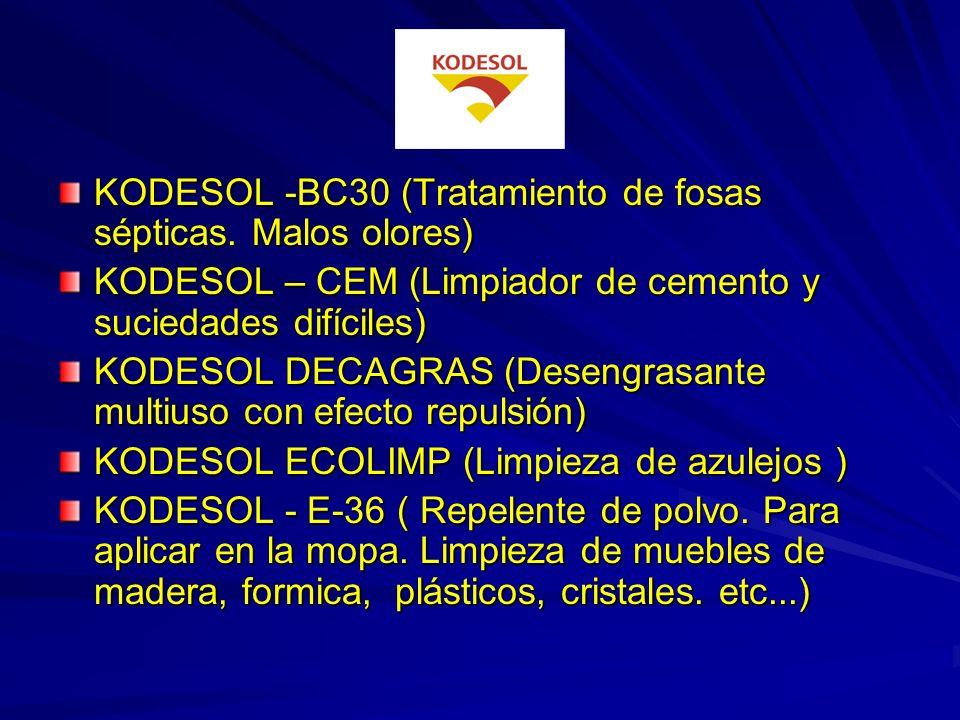 KODESOL -BC30 (Tratamiento de fosas sépticas. Malos olores)