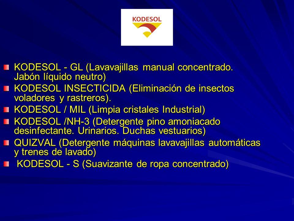 KODESOL - GL (Lavavajillas manual concentrado. Jabón líquido neutro)