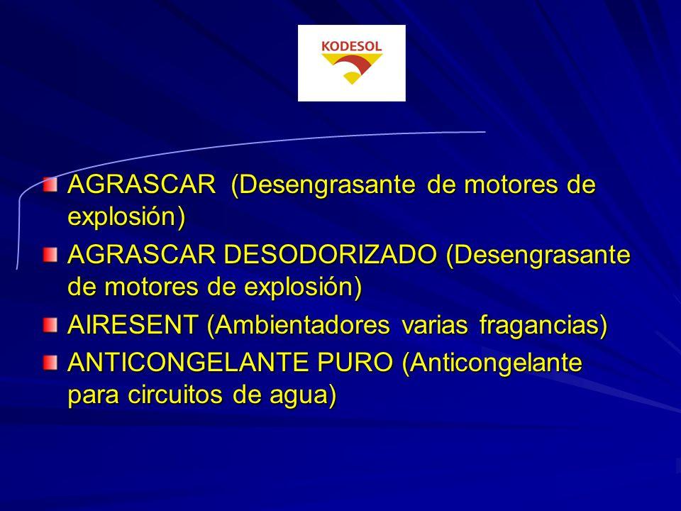 AGRASCAR (Desengrasante de motores de explosión)