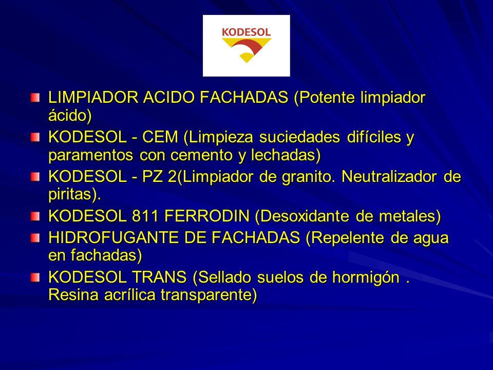 LIMPIADOR ACIDO FACHADAS (Potente limpiador ácido)