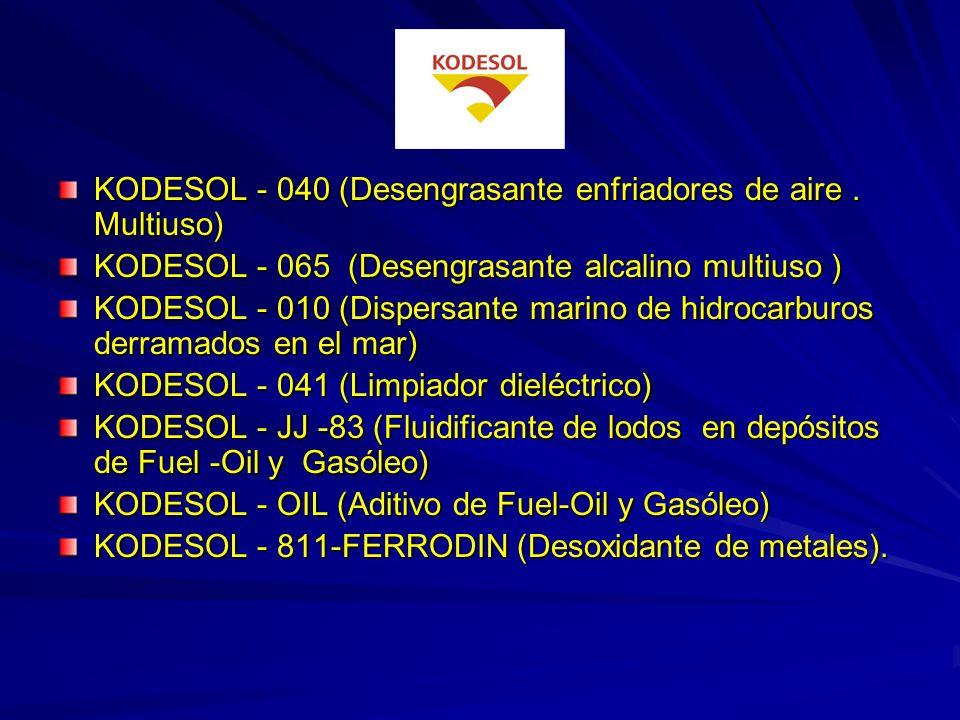 KODESOL - 040 (Desengrasante enfriadores de aire . Multiuso)