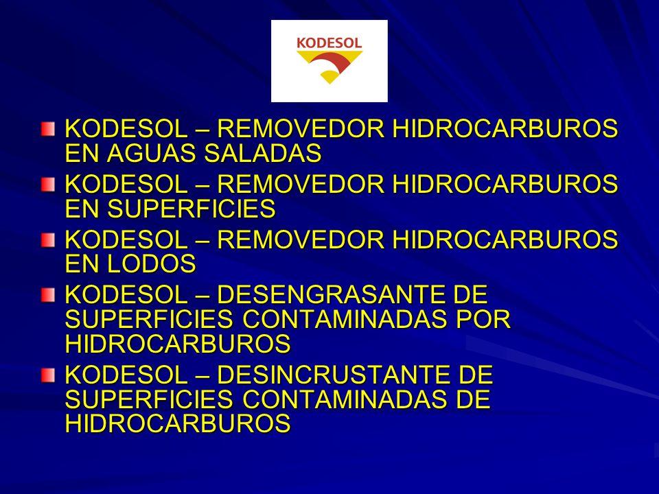 KODESOL – REMOVEDOR HIDROCARBUROS EN AGUAS SALADAS