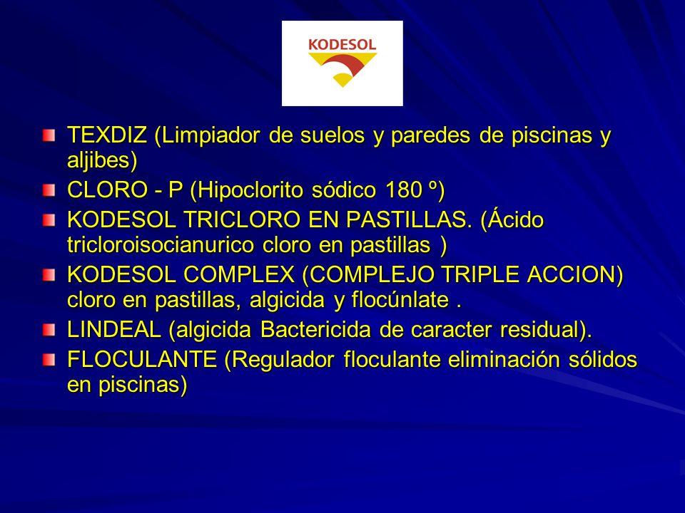 TEXDIZ (Limpiador de suelos y paredes de piscinas y aljibes)