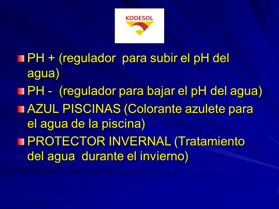 PH + (regulador para subir el pH del agua)