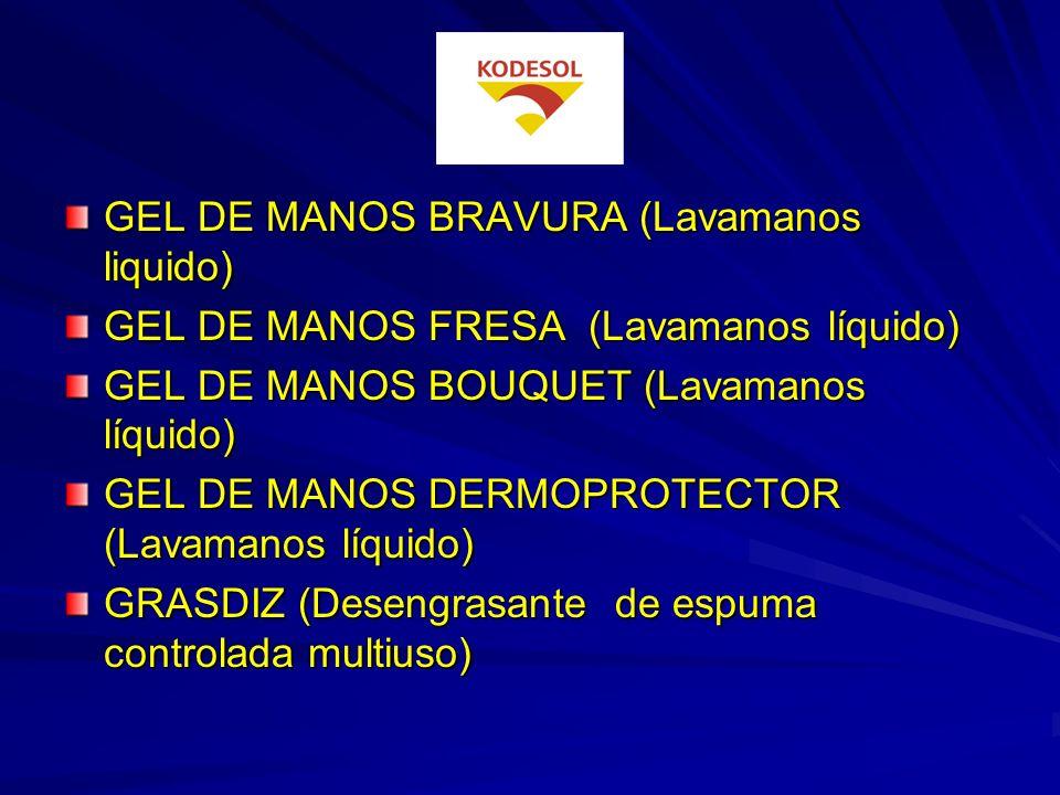 GEL DE MANOS BRAVURA (Lavamanos liquido)