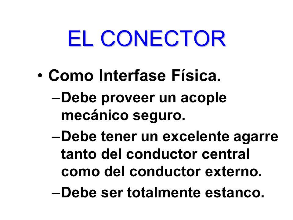 EL CONECTOR Como Interfase Física.