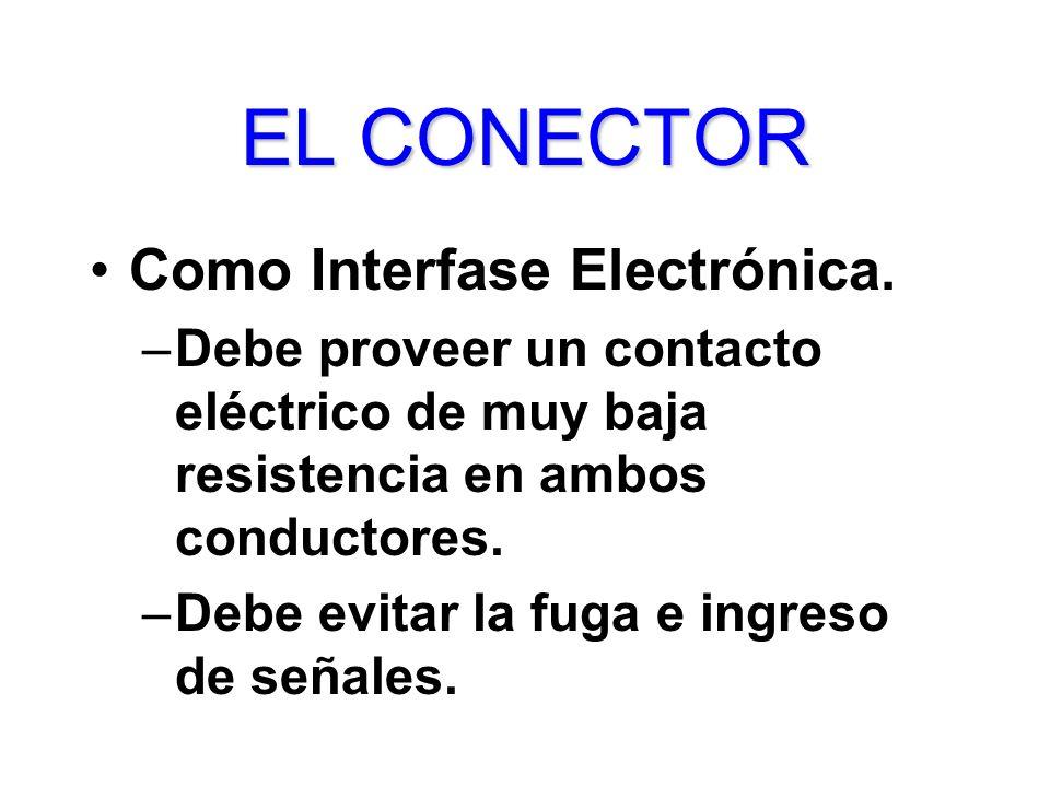 EL CONECTOR Como Interfase Electrónica.
