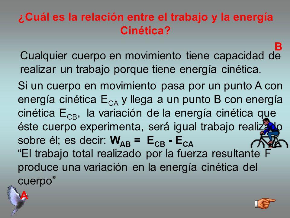 ¿Cuál es la relación entre el trabajo y la energía Cinética
