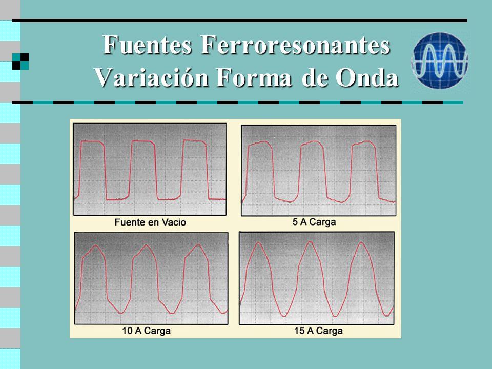 Fuentes Ferroresonantes Variación Forma de Onda