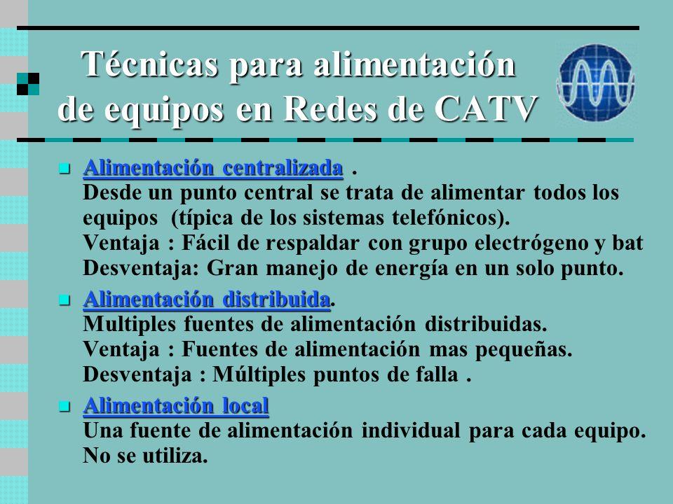 Técnicas para alimentación de equipos en Redes de CATV