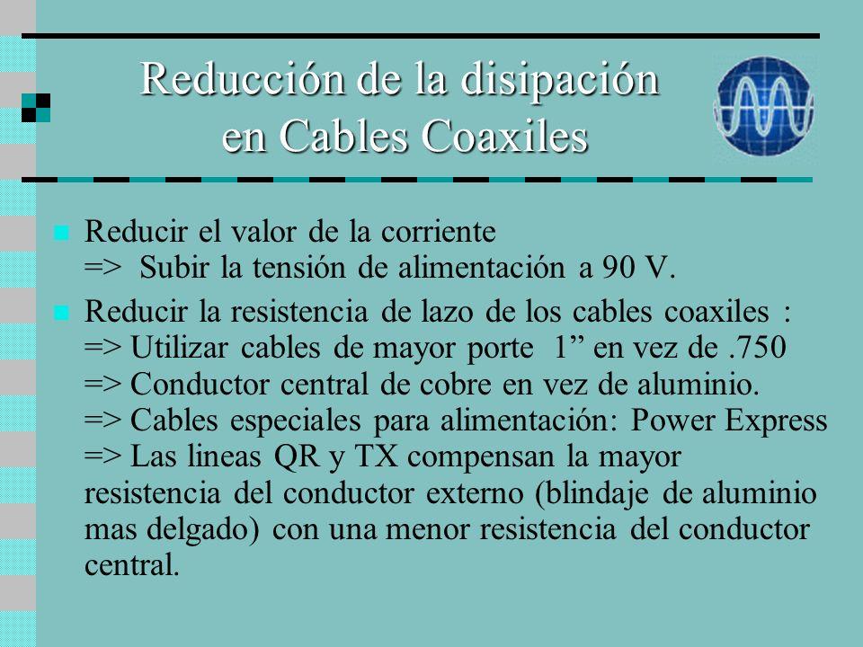 Reducción de la disipación en Cables Coaxiles