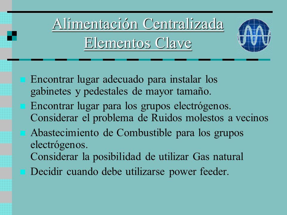 Alimentación Centralizada Elementos Clave