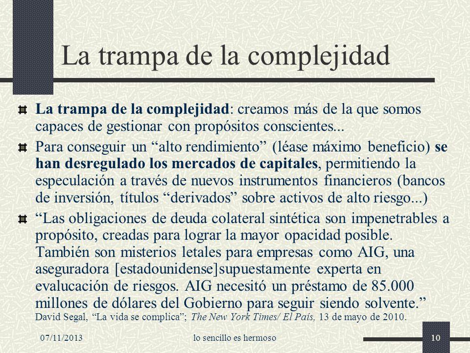 La trampa de la complejidad