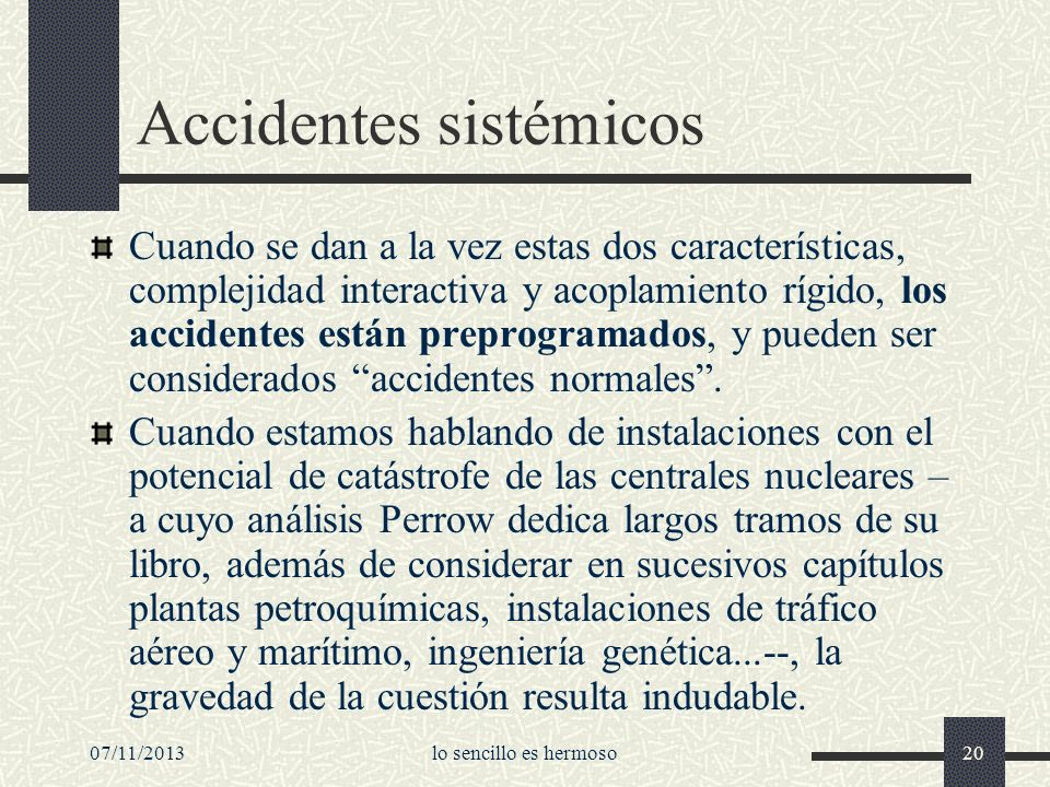 Accidentes sistémicos
