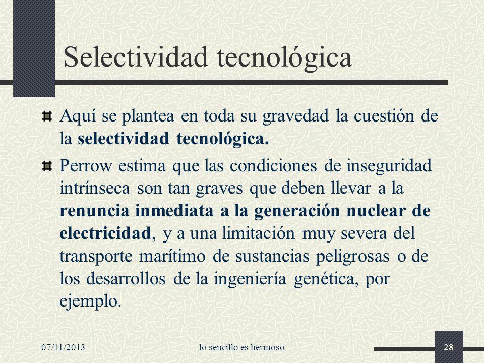 Selectividad tecnológica