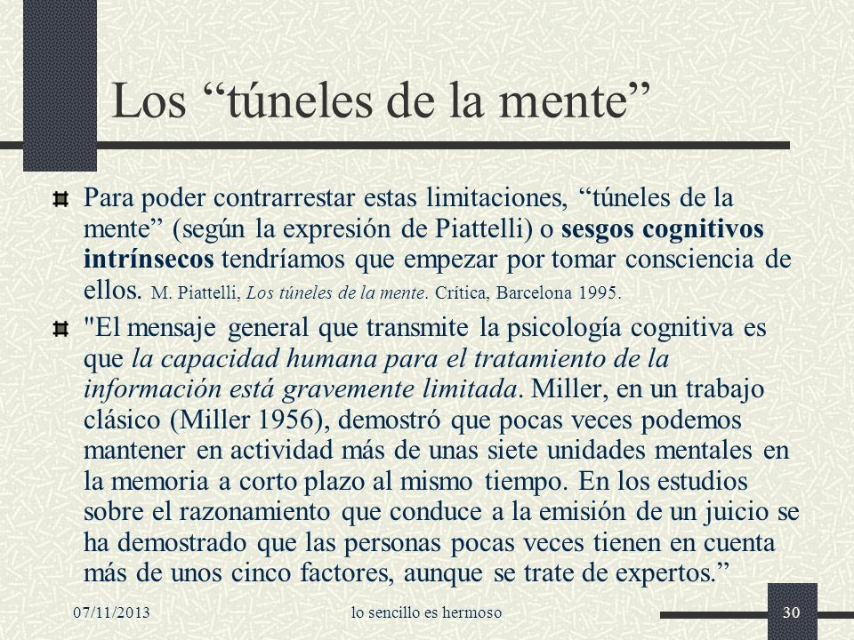 Los túneles de la mente