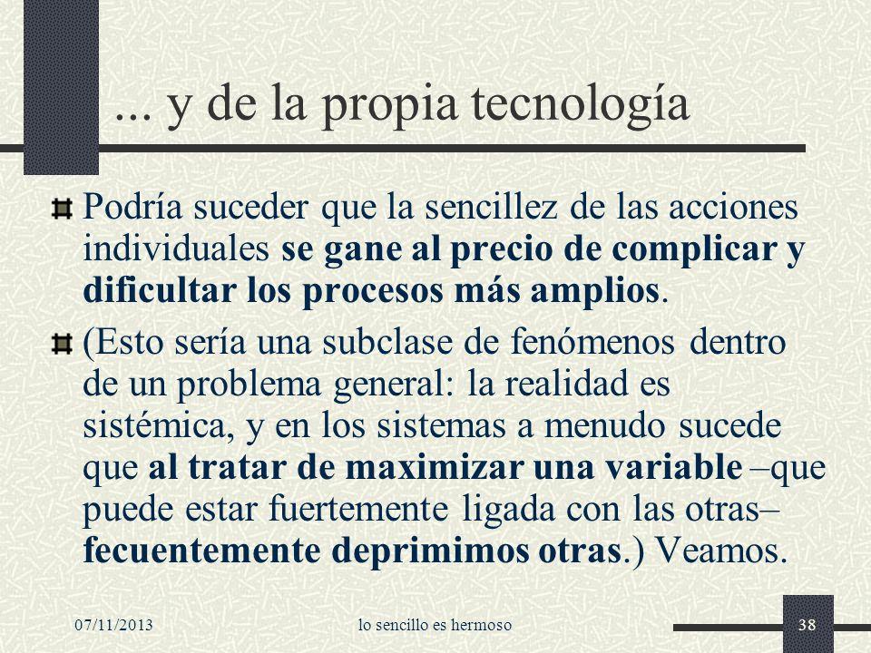 ... y de la propia tecnología