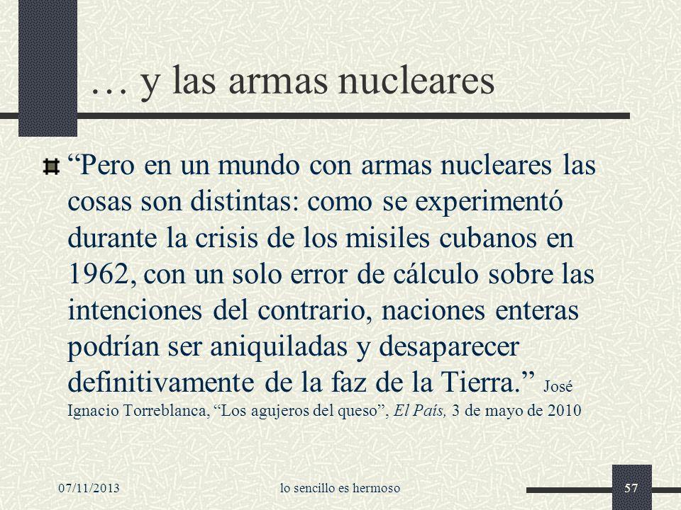 … y las armas nucleares