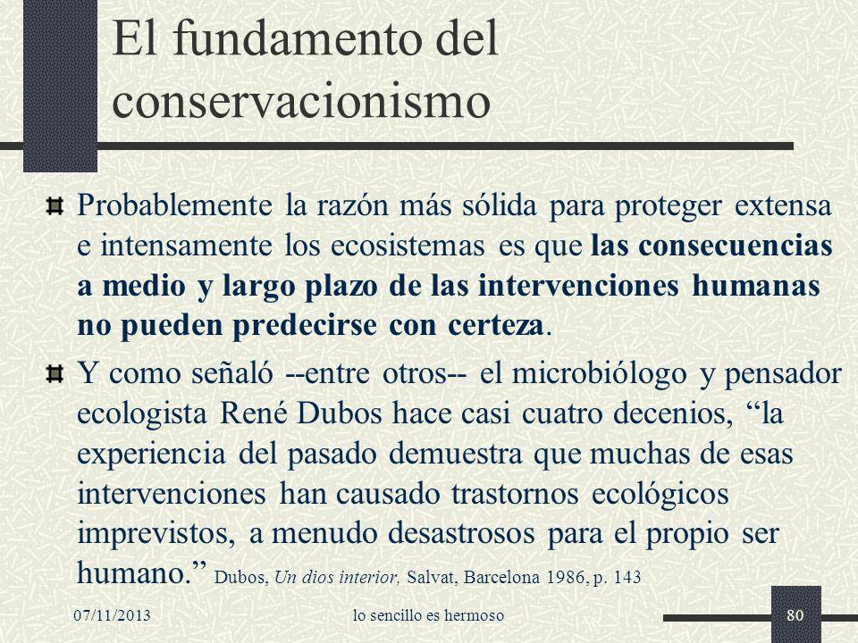 El fundamento del conservacionismo