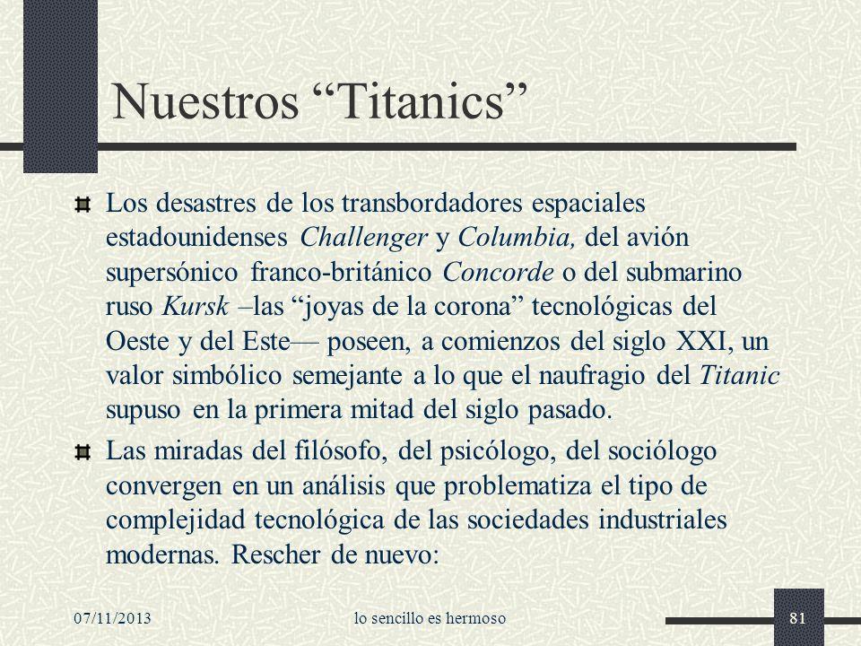 Nuestros Titanics