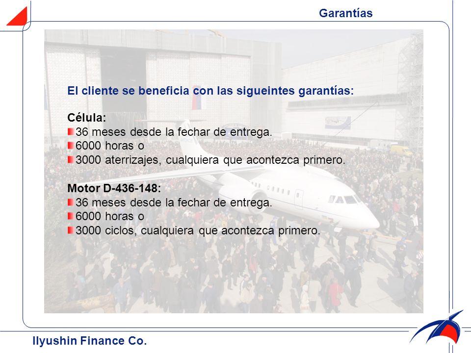 Garantías El cliente se beneficia con las sigueintes garantías: Célula: 36 meses desde la fechar de entrega.