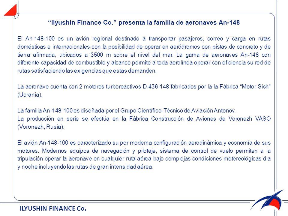 Ilyushin Finance Cо. presenta la familia de aeronaves An-148