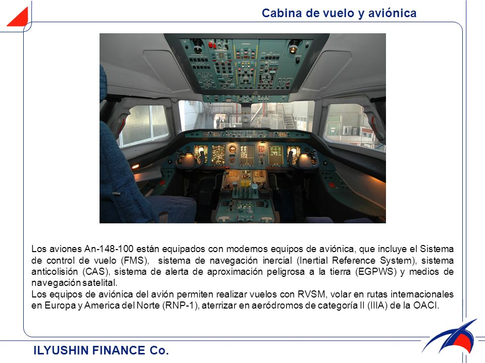 Cabina de vuelo y aviónica