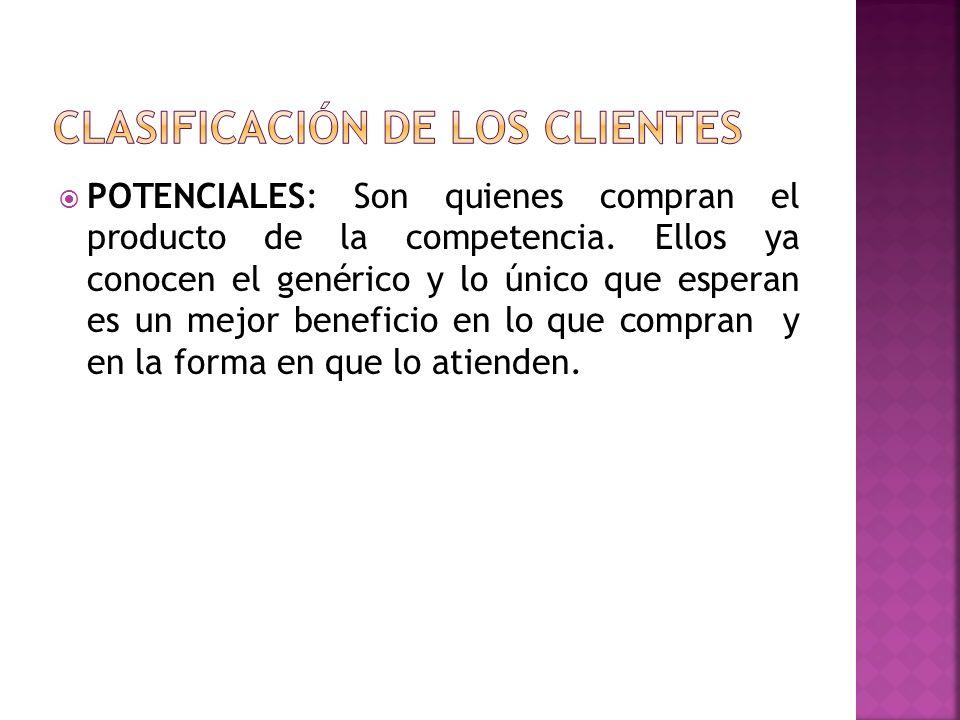 CLASIFICACIÓN DE LOS CLIENTES