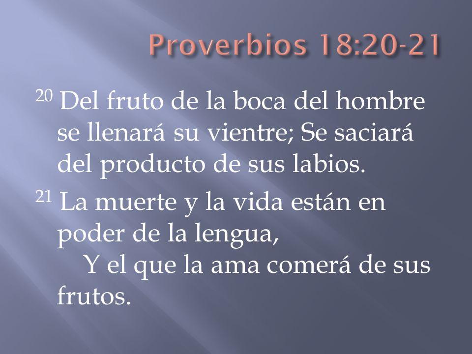 Proverbios 18:20-21