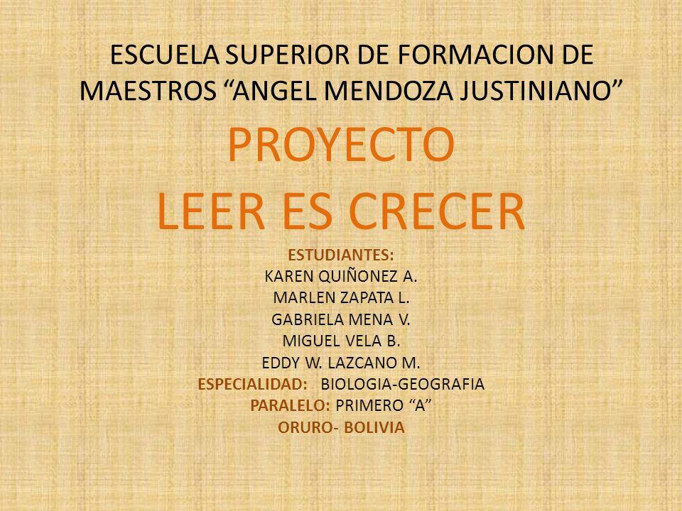 ESCUELA SUPERIOR DE FORMACION DE MAESTROS ANGEL MENDOZA JUSTINIANO