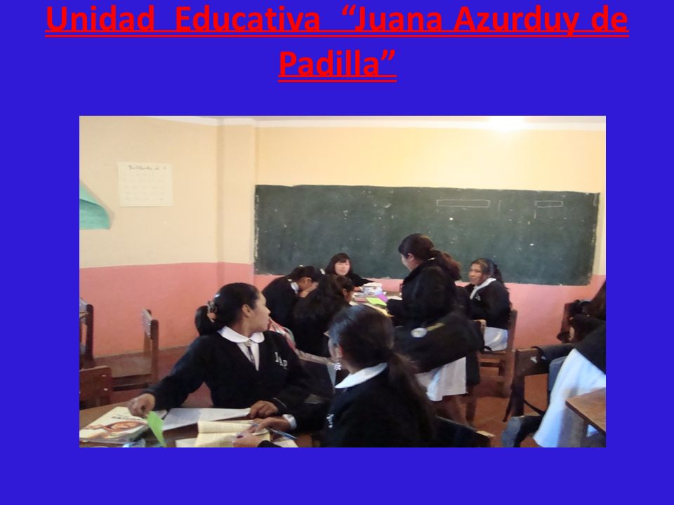Unidad Educativa Juana Azurduy de Padilla