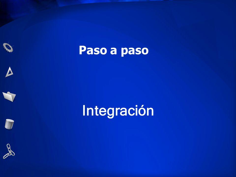 Paso a paso Integración
