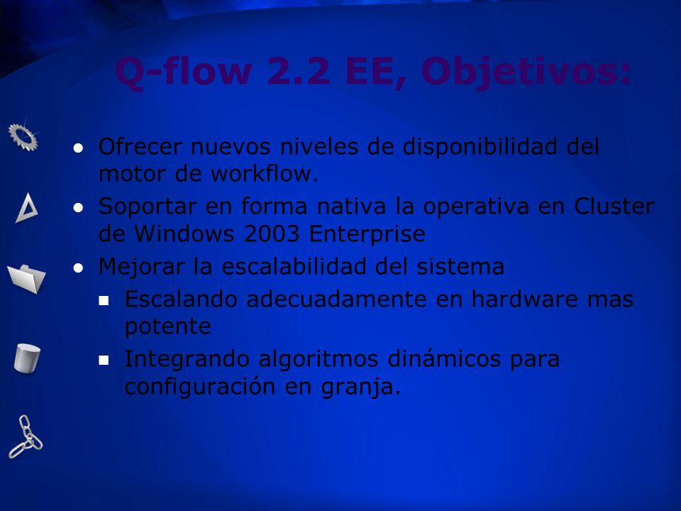 Q-flow 2.2 EE, Objetivos:Ofrecer nuevos niveles de disponibilidad del motor de workflow.