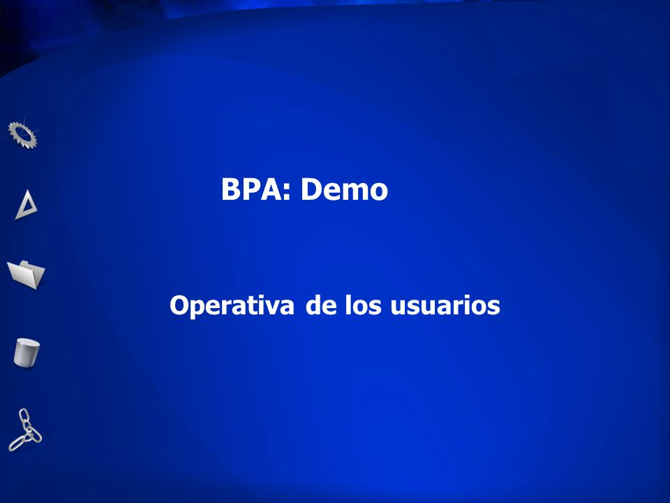 Operativa de los usuarios