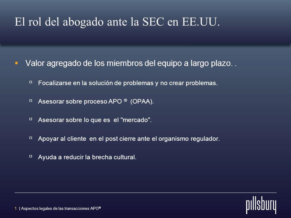 El rol del abogado ante la SEC en EE.UU.
